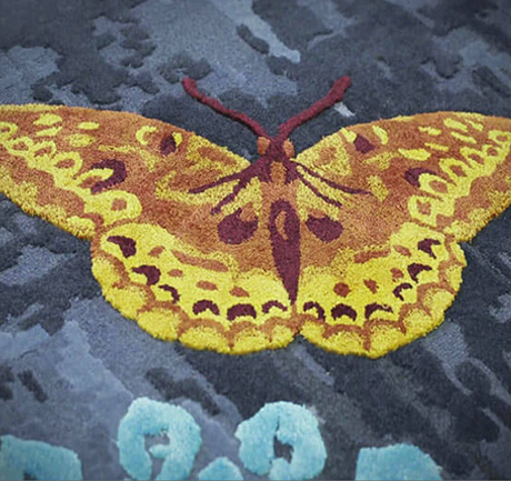 Custom Butterfly Design Carpets & Rugs