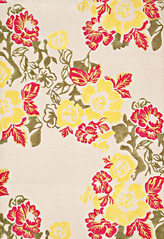 fine antique floral design rug collection Beige Multi Carpets & Rugs