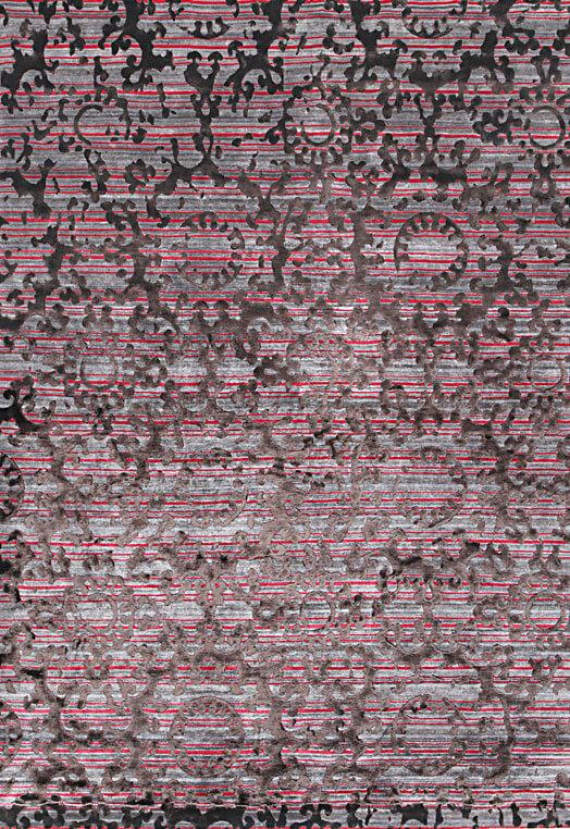Fushia grey custom made carpet store in Chennai Fuchsia Grey Carpets & Rugs