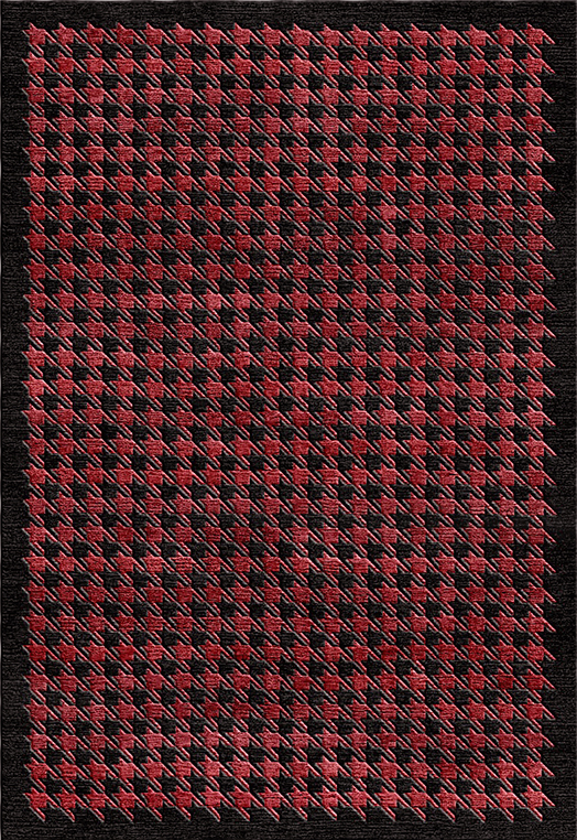 MAGNUS Red & Black Red & Black Carpets & Rugs