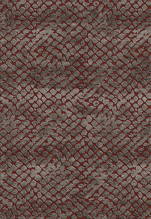 Indulge Charcoal Red Carpets & Rugs