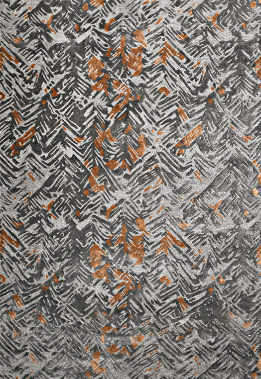 Spruce Charcoal Rust Charcoal Rust Carpets & Rugs