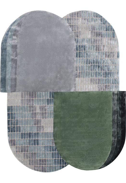 Corbel Blue Green Carpets & Rugs