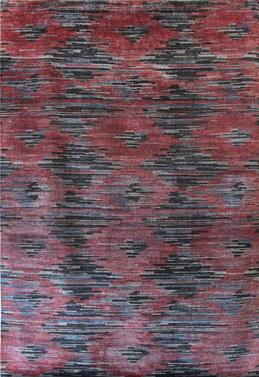 P- 1462 Charcoal Red Charcoal Red Carpets & Rugs