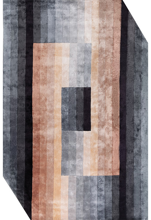 Hex Grey Peach Carpets & Rugs