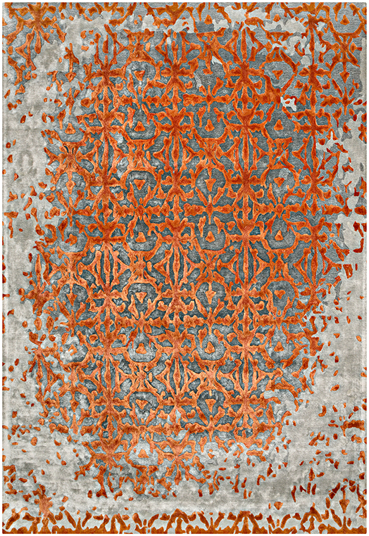OASIS Charcoal Rust Carpets & Rugs