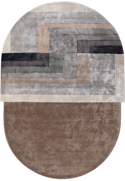 Ovate Taupe Carpets & Rugs