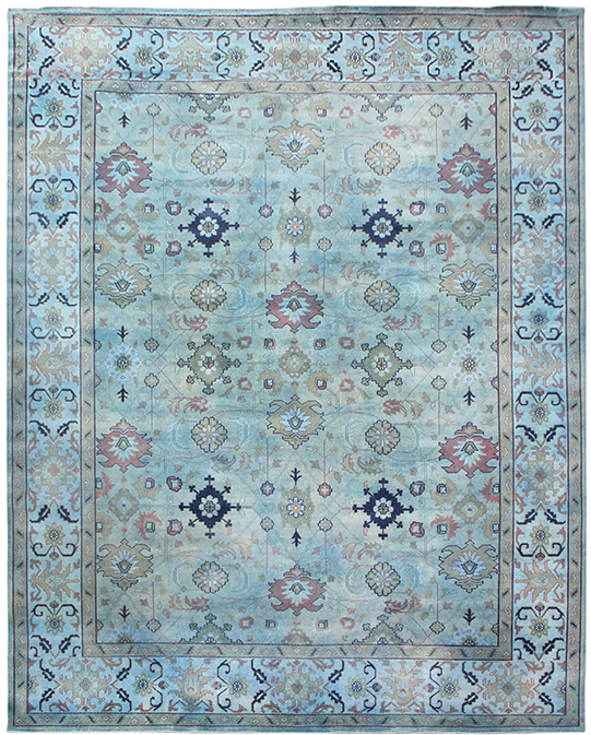 P-1194 Blue  Carpets & Rugs