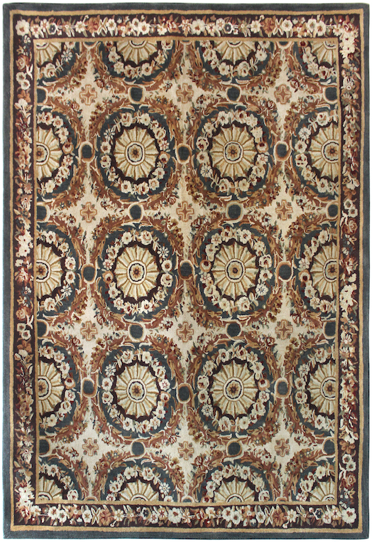 P 1455 Blue & Ivory Carpets & Rugs