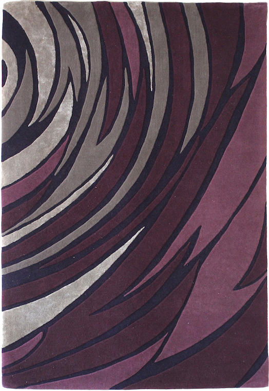ROSA Grey Mauve Carpets & Rugs