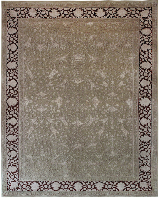 P-30862 Rust Beige Carpets & Rugs