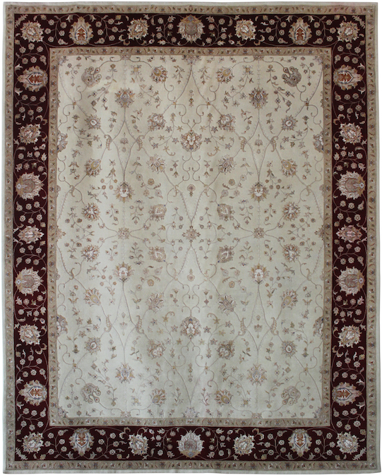P-35388 Beige Red Carpets & Rugs