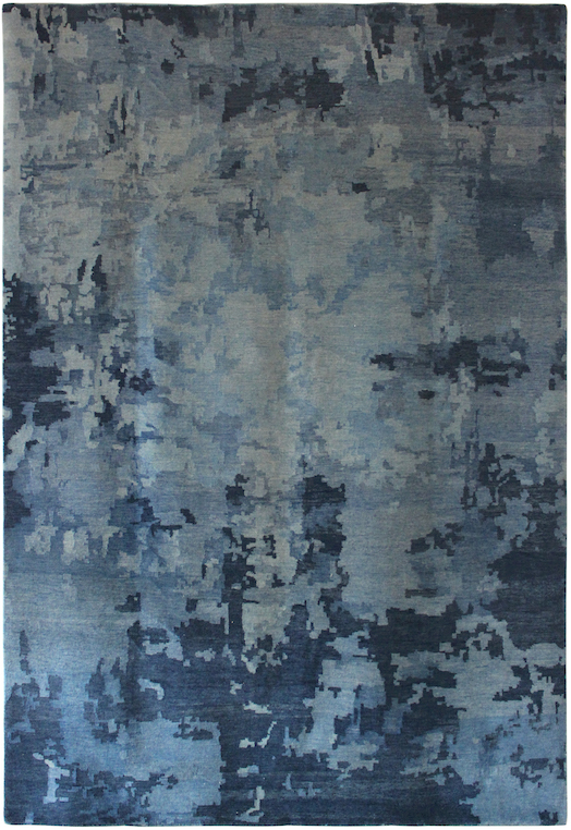 P-35965 Grey Blue Carpets & Rugs