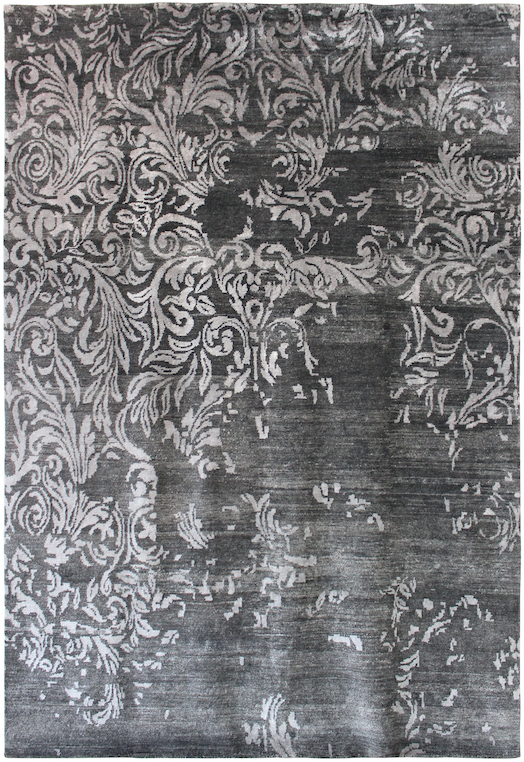 P-36897 Black Silver Carpets & Rugs