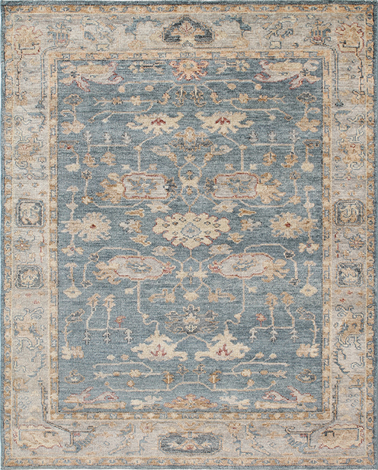 P-4072 Blue Beige Carpets & Rugs
