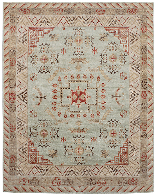 P-4168 Beige Red Carpets & Rugs
