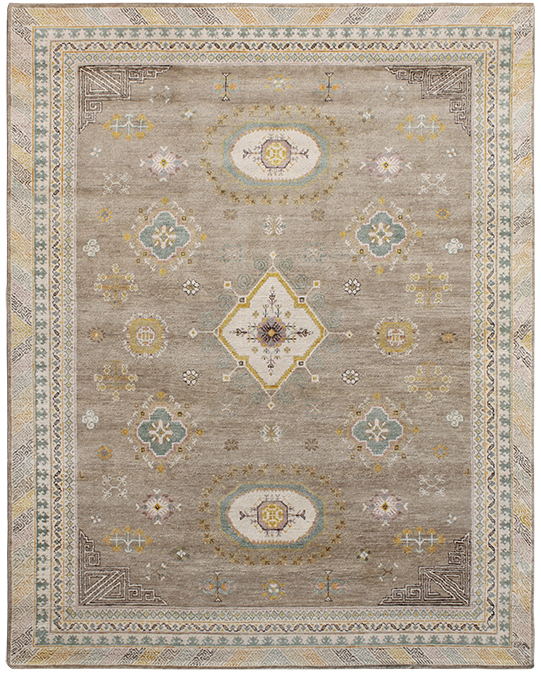 P-4170 Brown Yellow Carpets & Rugs