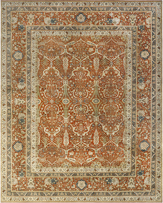 P-4233 Beige Brown Carpets & Rugs