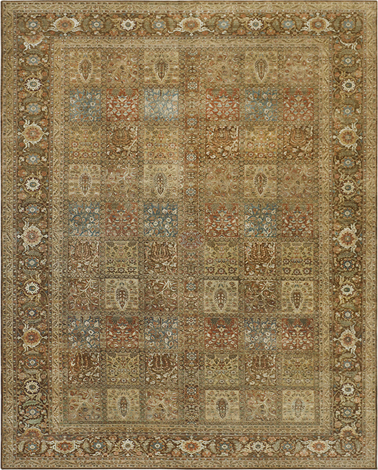 P-4234 Beige Brown Carpets & Rugs