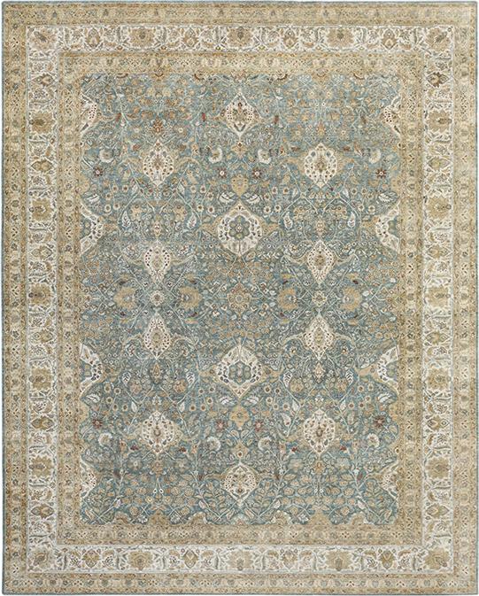 P-4238 Beige Blue Carpets & Rugs