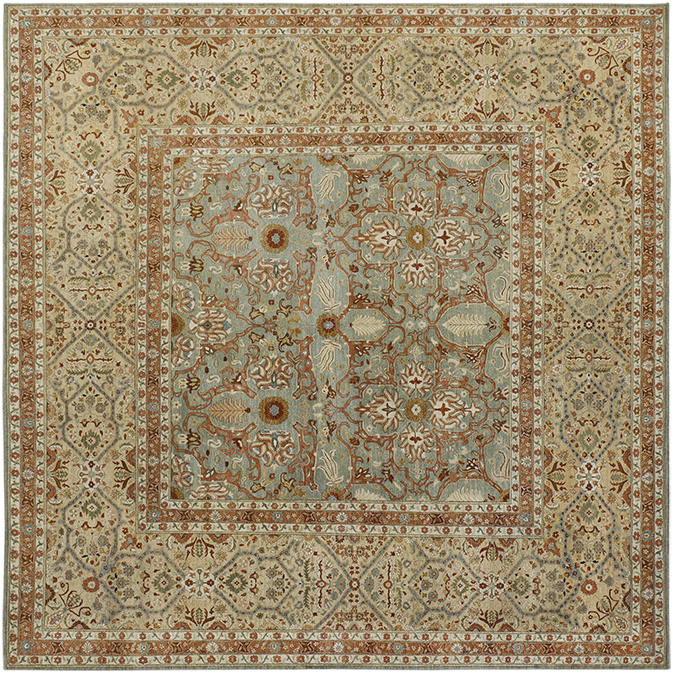 P-4240 Beige Multi Carpets & Rugs