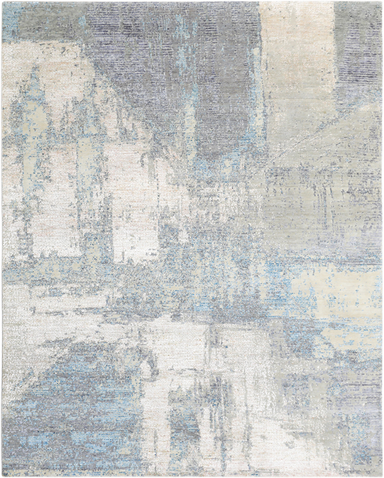 P-4245 Silver Blue Carpets & Rugs