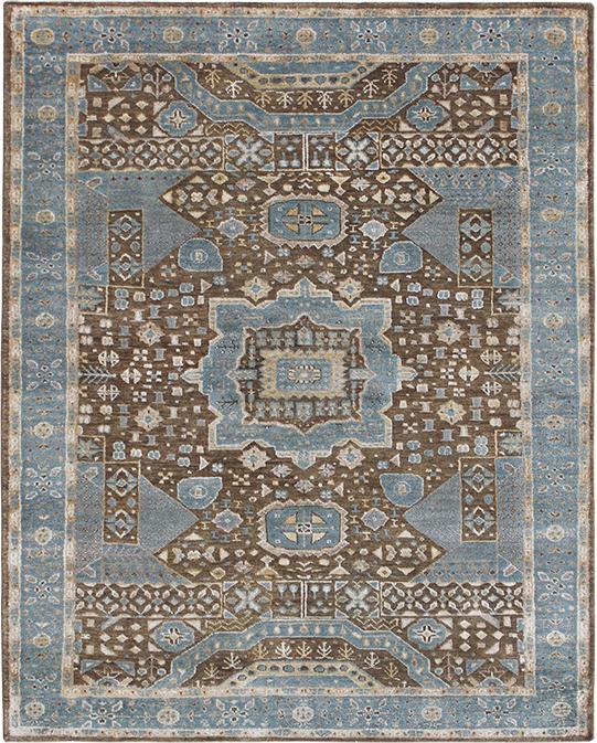P-4292 Brown Blue Carpets & Rugs