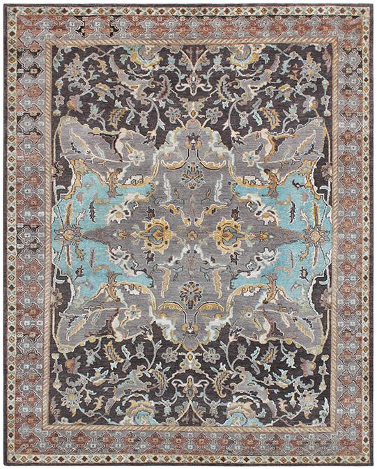 HKD-4 Multi Brown Carpets & Rugs