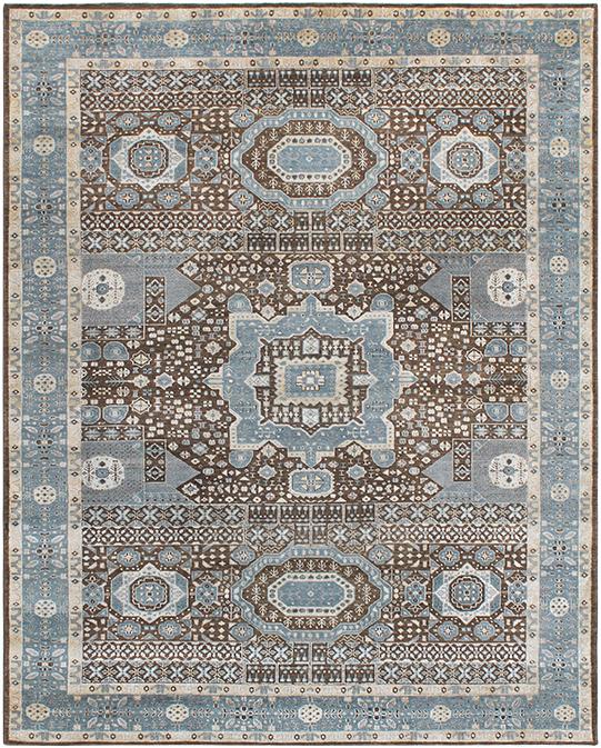 HKD-2 Brown Blue Carpets & Rugs