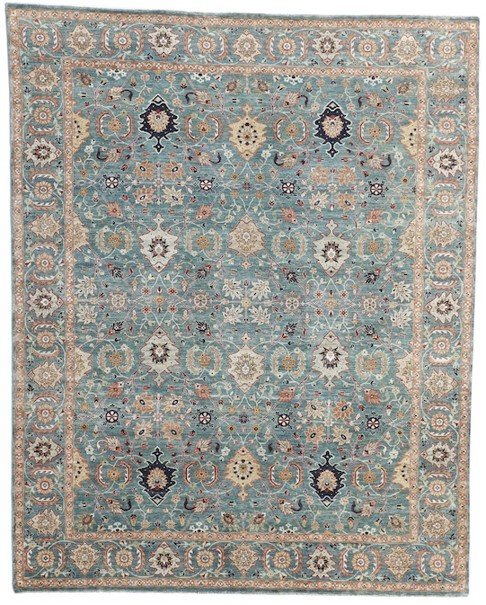 SULTANABAD-F (P-4398) Green  Carpets & Rugs