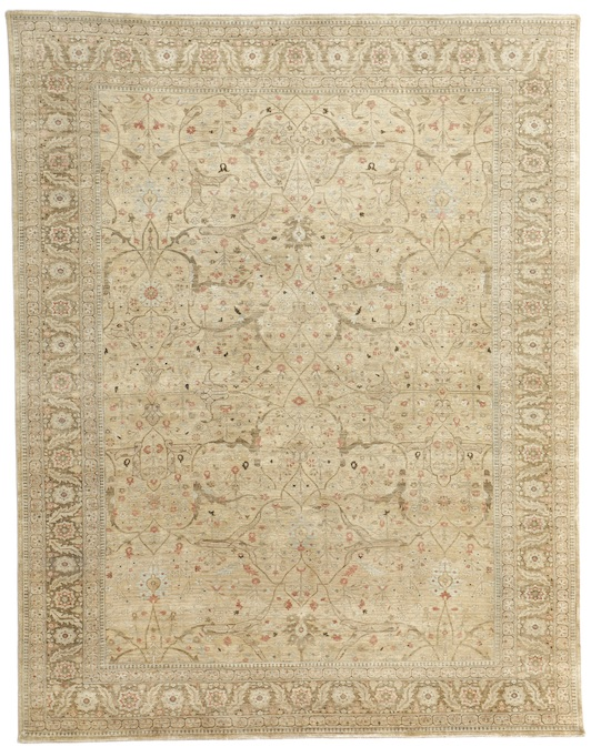 G-BIDZAR (P-4402) Brown Gold Carpets & Rugs