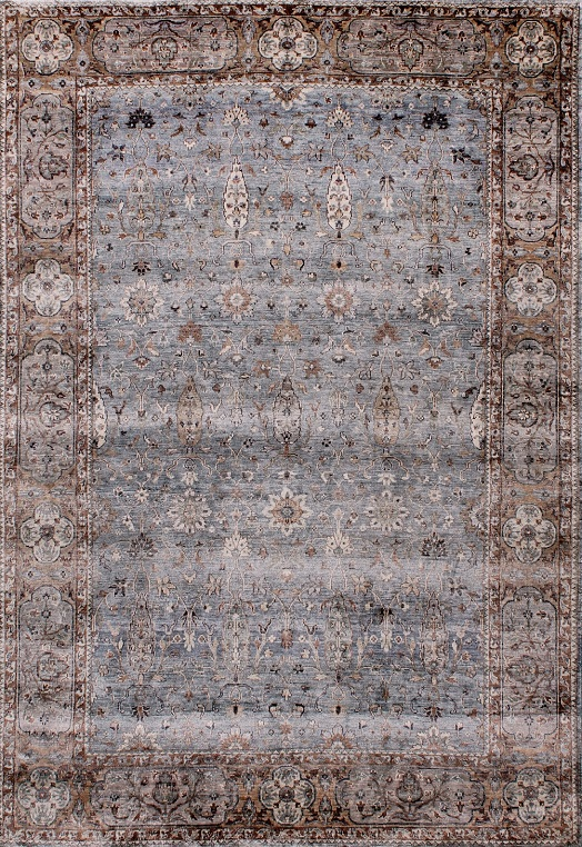 RUBINE -Light Blue & Brown Light Blue & Brown Carpets & Rugs