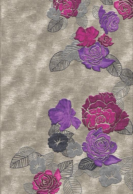 Sculpted Serene Fuschia Mauve Fuchsia Mauve Carpets & Rugs