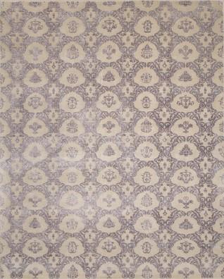 Damask Taupe Carpets & Rugs