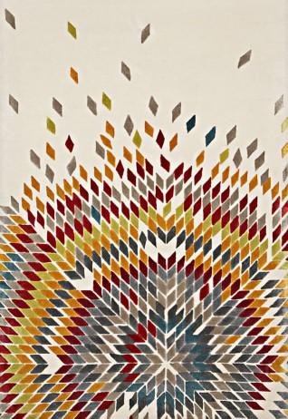 Chevron Ivory Multi Carpets & Rugs