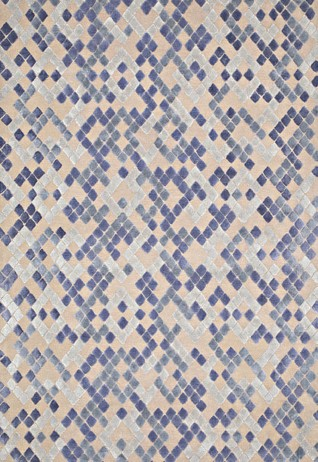 Diamond Blue Taupe Carpets & Rugs