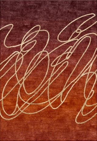 Scribble Rust Carpets & Rugs