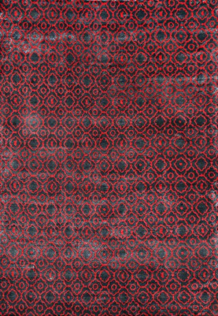 Blossom Red & Black Carpets & Rugs