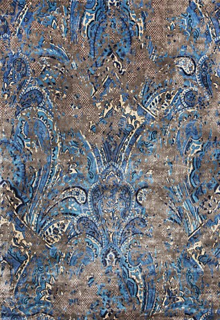 Zaiba Brown Blue Carpets & Rugs