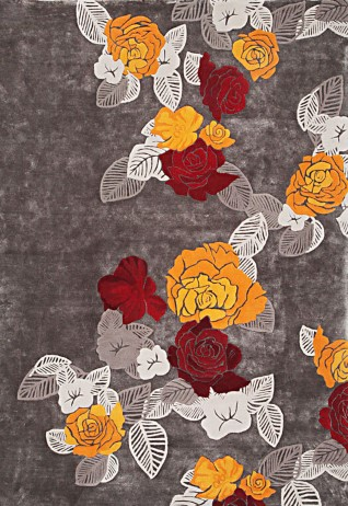 Serene Gold Red Carpets & Rugs