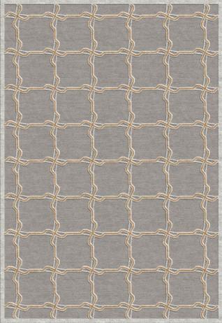Treccia Silver Tangerine Carpets & Rugs