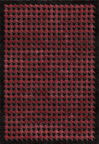 MAGNUS Red & Black Carpets & Rugs