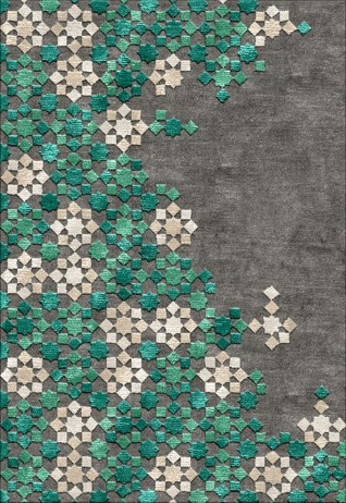 Star Charcoal Green Carpets & Rugs