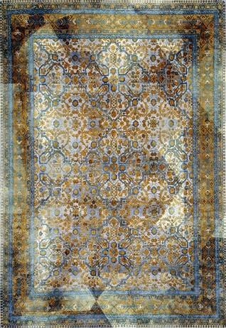 Umbra Blue Gold Carpets & Rugs