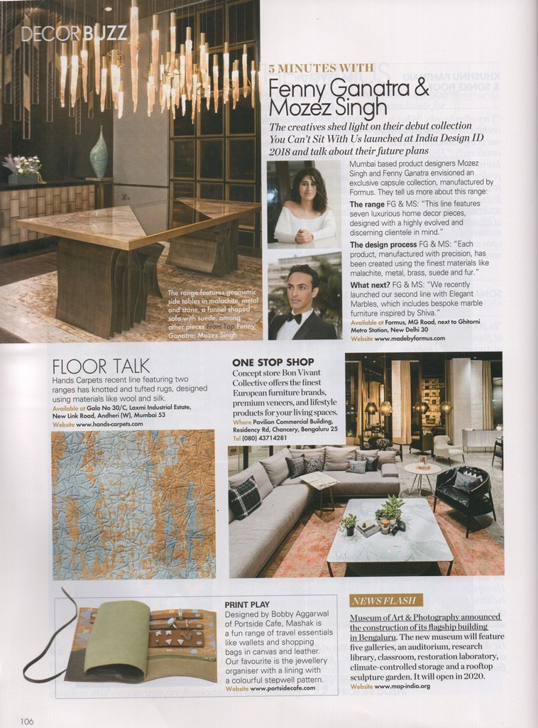 Press Coverage - Hands - Elle Decor April May 2018