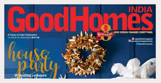 The Moire blue rug featured in the December 2016 GoodHomes edition