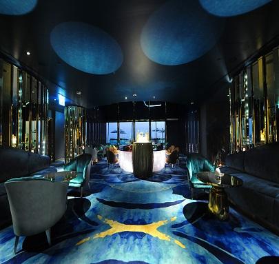 Nathan Outlaw, At Burj Al Arab - Dubai Hotel carpets